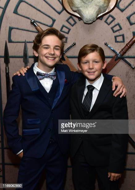 Liam MacDonald and Ethan Tavares attend the LA Screening Of Fox Searchlight's Ready Or Not at ArcLight Culver City on August 19 2019 in Culver City...