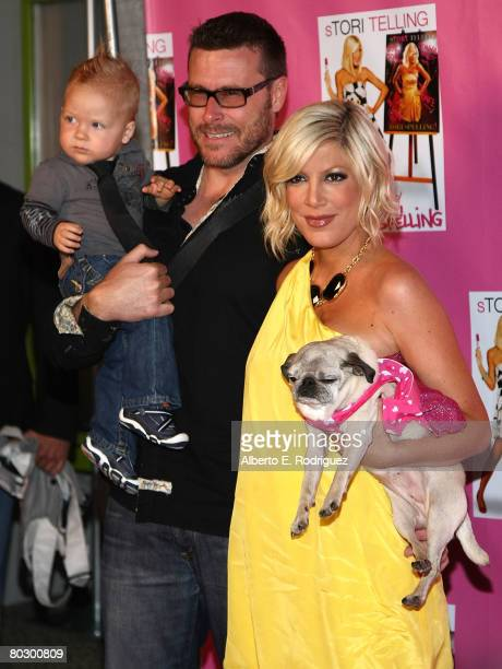 Liam McDermott Dean McDermott and actress Tori Spelling arrive at a cocktail party for the launch of Tori Spelling's new book sTORI Telling at the...