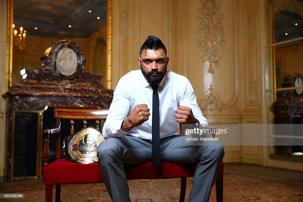Liam McGeary poses for a portrait during the Bellator 158 MMA Press Conference at the Four Seasons Hotel on April 18, 2016 in London, England.