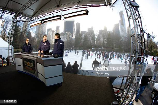 Liam McHugh Mike Milbury and Keith Jones report from Central Park for the New York Rangers Hockey Day in America where there is free public skating...