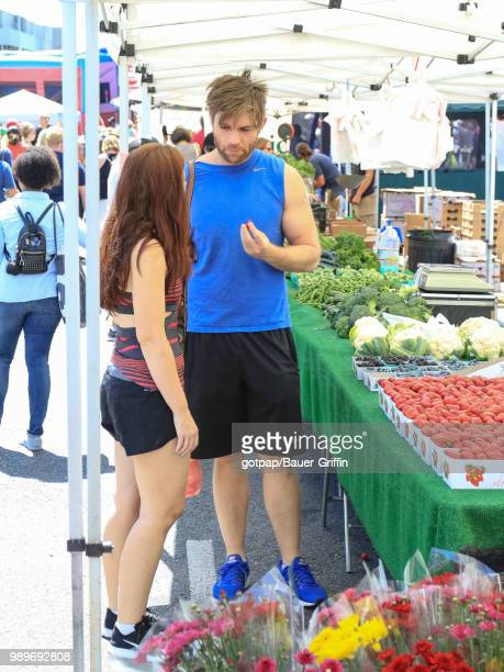 Liam McIntyre and Erin Hasan are seen on July 01 2018 in Los Angeles California