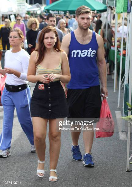 Liam McIntyre and Erin Hasan are seen on November 4 2018 in Los Angeles CA