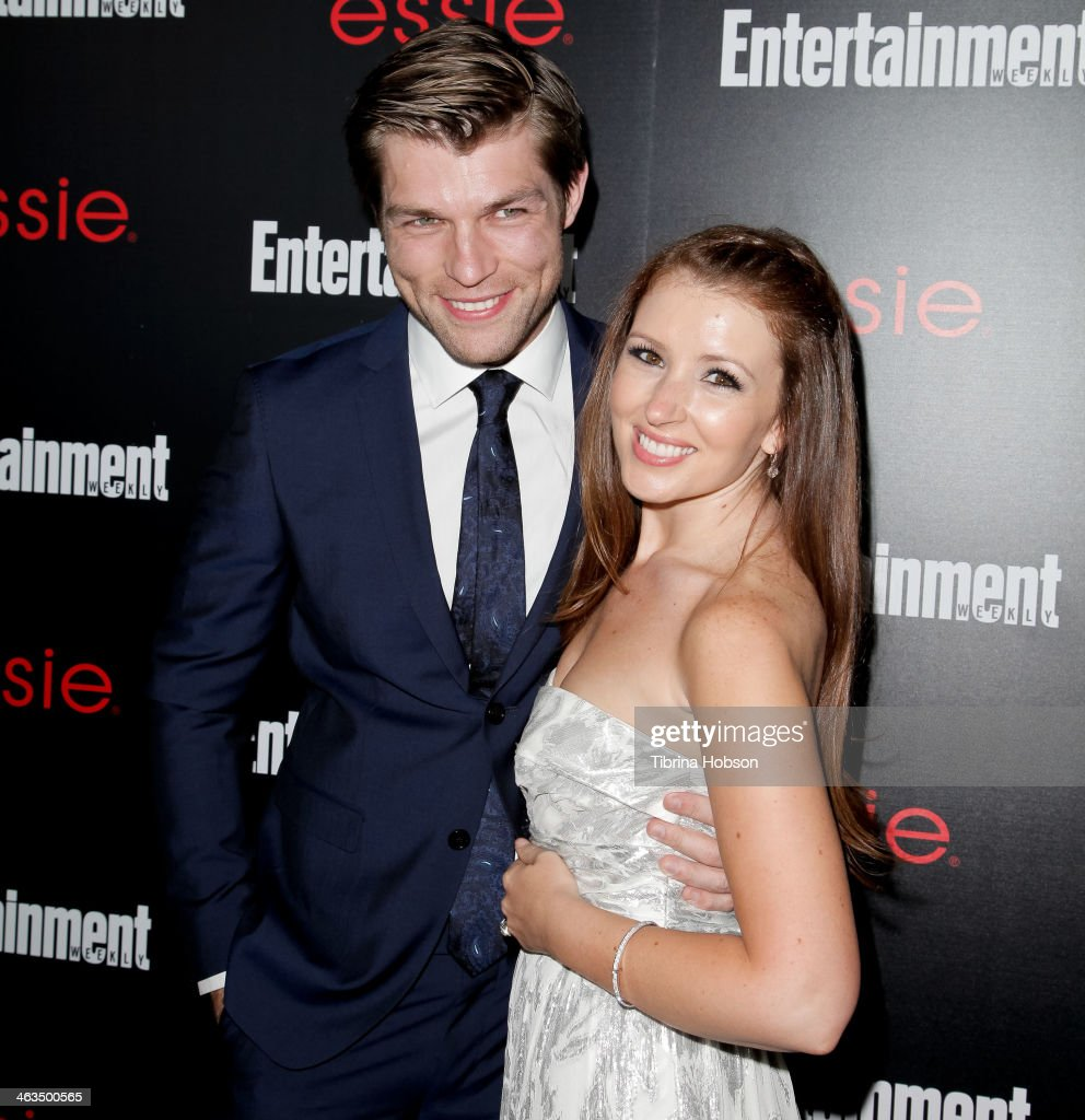 Liam McIntyre and Erin Hasan attend the Entertainment Weekly SAG Awards pre-party at Chateau Marmont on January 17, 2014 in Los Angeles, California.