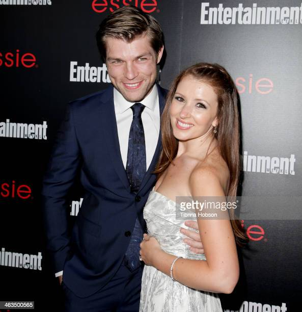 Liam McIntyre and Erin Hasan attend the Entertainment Weekly SAG Awards preparty at Chateau Marmont on January 17 2014 in Los Angeles California