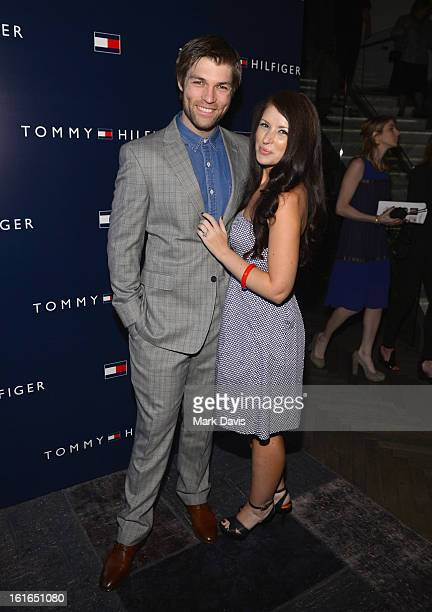 Liam McIntyre and Erin Hasan attends Tommy Hilfiger New West Coast Flagship Opening After Party at a Private Club on February 13 2013 in West...