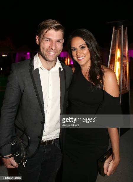 Liam McIntyre and Kelen Coleman attend the Lifetime Summer Luau on May 20 2019 in Los Angeles California