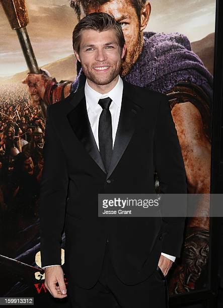 Liam McIntyre arrives at the Spartacus War of The Damned Los Angeles Premiere at Regal Cinemas LA LIVE Stadium 14 on January 22 2013 in Los Angeles...