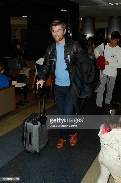 Liam McIntyre is seen at LAX on February 15 2015 in Los Angeles California