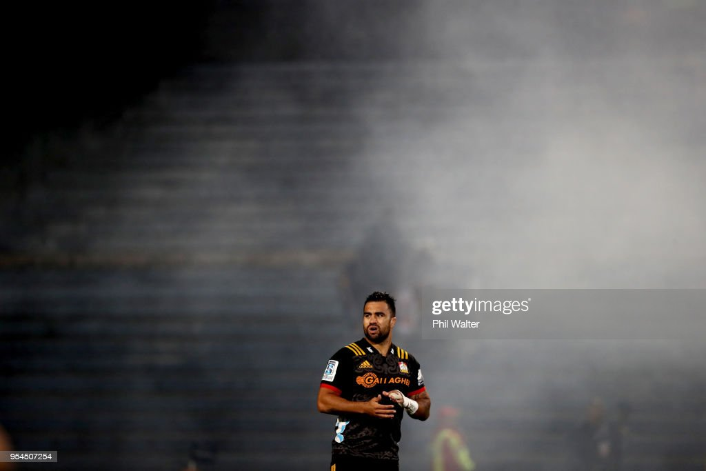 Liam Messam of the Chiefs during the round 12 Super Rugby match between the Chiefs and the Jaguares at Rotorua International Stadium on May 4, 2018 in Rotorua, New Zealand.