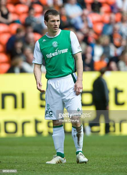 Liam Miller of Hibernian during the Clydesdale Bank Scottish Premier League match between Dundee United and Hibernian at Tannadice Park on May 9 2010...