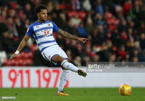 Liam Moore of Reading during the Sky Bet Championship match between Sunderland and Reading at Stadium of Light on December 2 2017 in Sunderland...