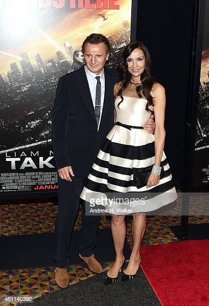 Liam Neeson and Famke Janssen attend the Taken 3 Fan Event Screening at AMC Empire 25 theater on January 7 2015 in New York City