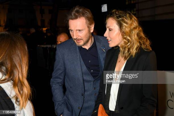 Liam Neeson and Freya St Johnston attend The White Crow UK Premiere held at The Curzon Mayfair on March 12 2019 in London England