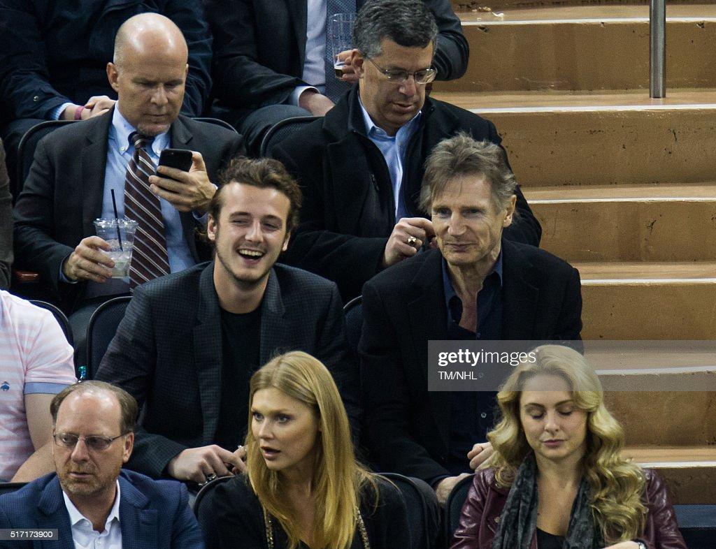 Celebrities Attend New York Rangers Vs. Boston Bruins  - March 23 ,2016 : News Photo