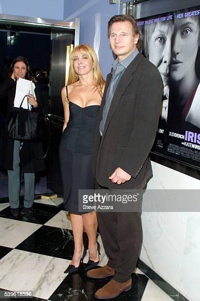 Liam Neeson and his wife Natasha Richardson at the premiere