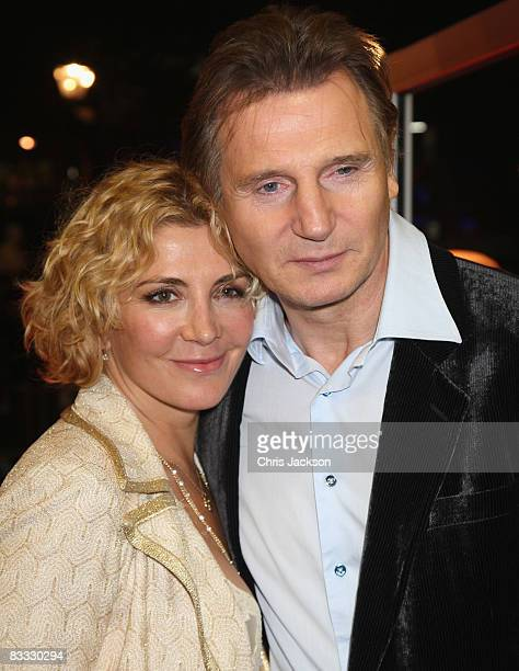 Liam Neeson and Natasha Richardson arrive at the BFI 52 London Film Festival 'The Other Man' Premiere at the Odeon West End on October 17 2008 in...