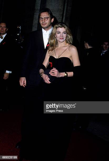 Liam Neeson and Natasha Richardson attend the 12th Annual Council of Fashion Designers of America Awards at Lincoln Center circa 1993 in New York City