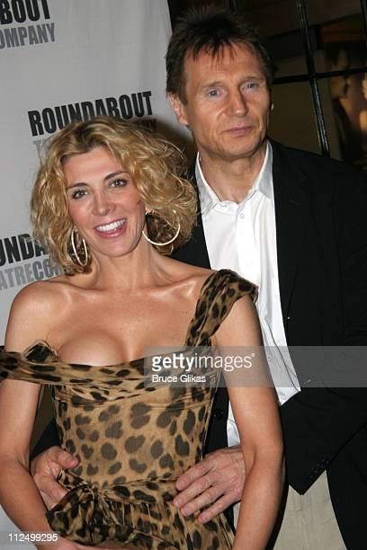 Liam Neeson and Natasha Richardson during A Streetcar Named Desire on Broadway Curtain Call and After Party at Roundabout Theater at Studio 54 in New...