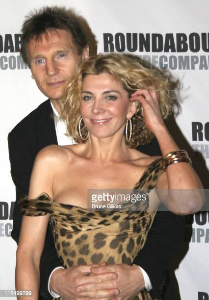 "Liam Neeson and Natasha Richardson during ""A Streetcar Named Desire"" on Broadway - Curtain Call and After Party at Roundabout Theater at Studio 54 in..."