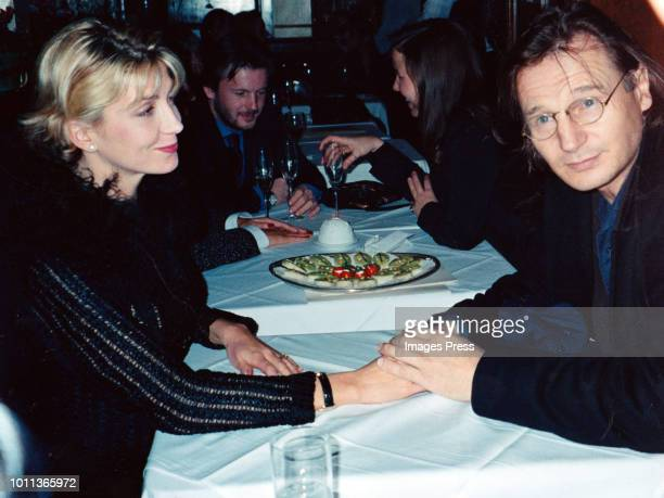 Liam Neeson and Natasha Richardsone circa 1997 in New York City.