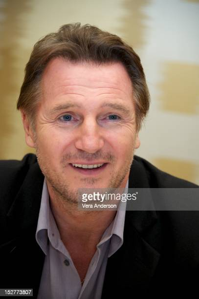Liam Neeson at the 'Taken 2' Press Conference at the Ritz Carlton Battery Park on September 23 2012 in New York City