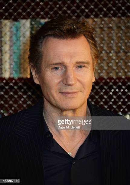 Liam Neeson attends a photocall for 'NonStop' at China Tang at The Dorchester on January 30 2014 in London England