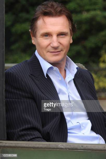 Liam Neeson attends a photocall for the Joe Carnahan's film 'L'agence Tous Risques' on June 14 2010 in Paris France