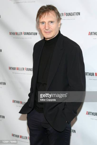 Liam Neeson attends the 2018 Arthur Miller Foundation Honors at City Winery on October 22 2018 in New York City