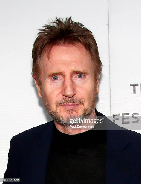 Liam Neeson attends the 2018 Tribeca Film Festival 'Schindler's List' Reunion at Beacon Theatre on April 26 2018 in New York City