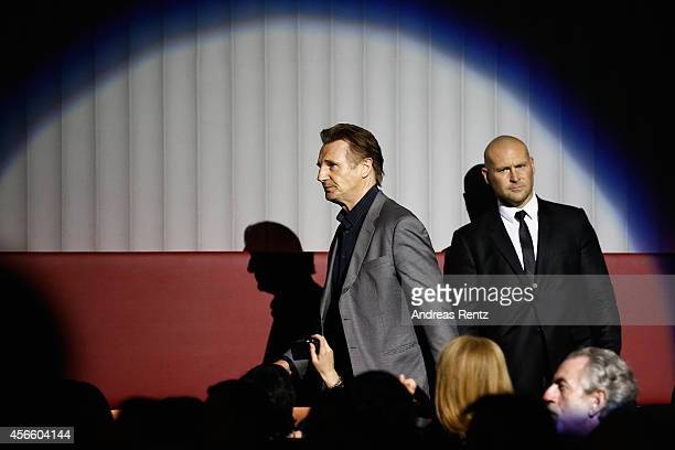 Liam Neeson attends the 'A walk amongst the Tombstones' Green Carpet Arrivals during Day 9 of Zurich Film Festival 2014 on October 3 2014 in Zurich...