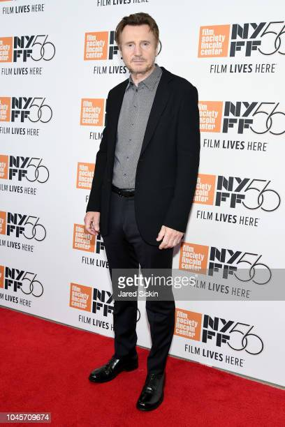 Liam Neeson attends the Netflix's The Ballad of Buster Scruggs NYFF Red Carpet Premiere at Alice Tully Hall on October 4 2018 in New York City