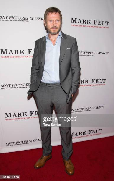 Liam Neeson attends the premiere of Sony Pictures Classics' 'Mark Felt The Man Who Brought Down The White House' at Writers Guild Theater on...