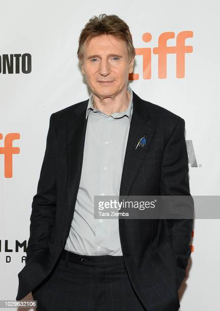 Liam Neeson attends the premiere of 'Widows' during the 2018 Toronto International Film Festival at Roy Thomson Hall on September 8 2018 in Toronto...