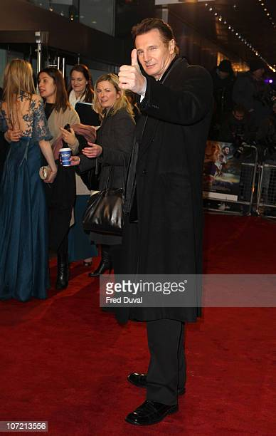 Liam Neeson attends the royal premiere of 'The Chronicles Of Narnia: The Voyage Of The Dawn Treader' at Odeon Leicester Square on November 30, 2010...