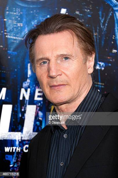 Liam Neeson attends the Run All Night New York Premiere at AMC Lincoln Square Theater on March 9 2015 in New York City