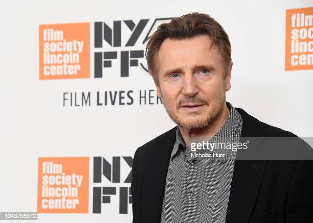 Liam Neeson attends the screening of The Ballad of Buster Scruggs during the 56th New York Film Festival at Alice Tully Hall Lincoln Center on...