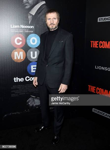 Liam Neeson attends the 'The Commuter' New York Premiere at AMC Loews Lincoln Square on January 8 2018 in New York City