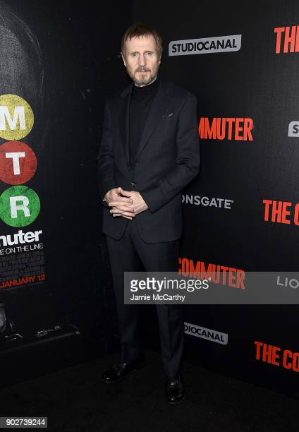 Liam Neeson attends the The Commuter New York Premiere at AMC Loews Lincoln Square on January 8 2018 in New York City