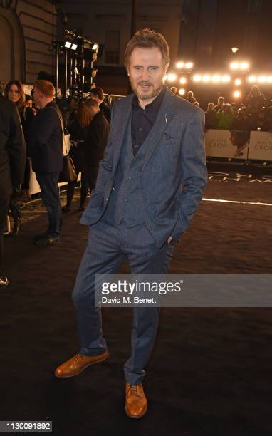 """Liam Neeson attends the UK Premiere of """"The White Crow"""" at The Curzon Mayfair on March 12, 2019 in London, England."""