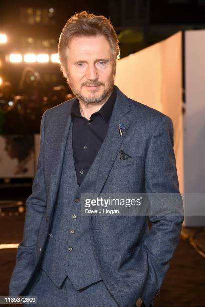 Liam Neeson attends The White Crow UK Premiere held at The Curzon Mayfair on March 12 2019 in London England