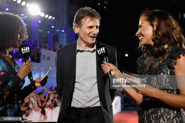 Liam Neeson attends the Widows premiere during 2018 Toronto International Film Festival at Roy Thomson Hall on September 8 2018 in Toronto Canada