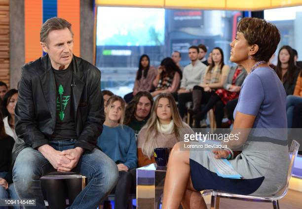 Liam Neeson is a guest on Good Morning America Tuesday Feb 5 airing on the Walt Disney Television via Getty Images Television Network GMA19 LIAM