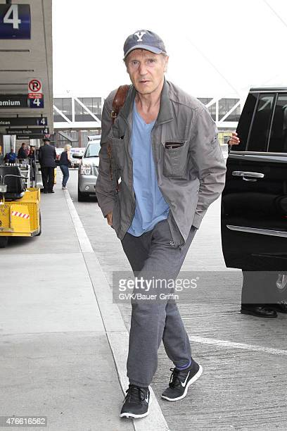 Liam Neeson is seen at LAX on June 10 2015 in Los Angeles California