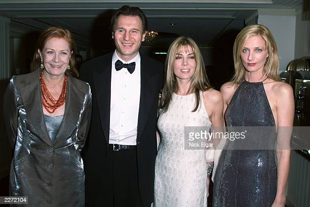 Liam Neeson Natasha Richardson with her sister Joely Richardson their Mother Vanessa Redgrave at the 10th Anniversary benefit for the Christopher...