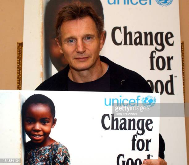 Liam Neeson took time away from filming the new Batman movie to celebrate raising 4 Million Euros for the UNICEF 'Change For Good' programme which he...