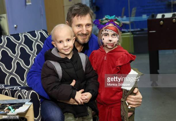 Liam Neeson visits the kids at Ronald McDonald House on December 19 2017 in New York City