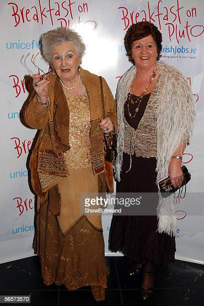 Liam Neeson's mother Kitty Neeson and niece Kathy Nolan attend the european premiere of the Neil Jordan movie Breakfast on Pluto on January 11 2006...