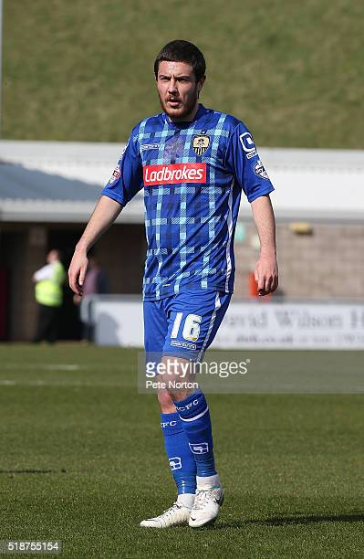 Liam Noble of Notts County in action during the Sky Bet League Two match between Northampton Town and Notts County at Sixfields Stadium on April 2...