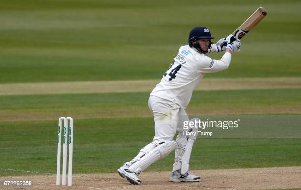 Liam Norwell of Gloucestershire bats during the Specsavers County Championship Division Two match between Gloucestershire and Durham at The...