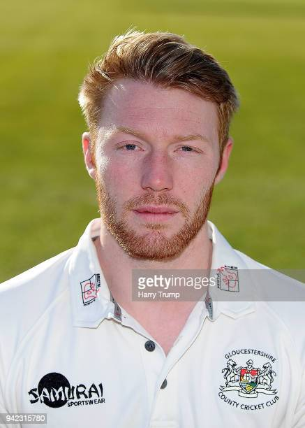 Liam Norwell of Gloucestershire CCC poses during the Gloucestershire CCC Photocall at The Brightside Ground on April 5 2018 in Bristol England